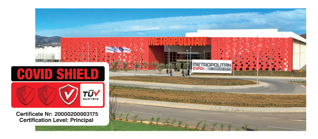 Exhibitions start with safety. Metropolitan Expo Centre has achieved Covid Shield Certification by TUV Austria